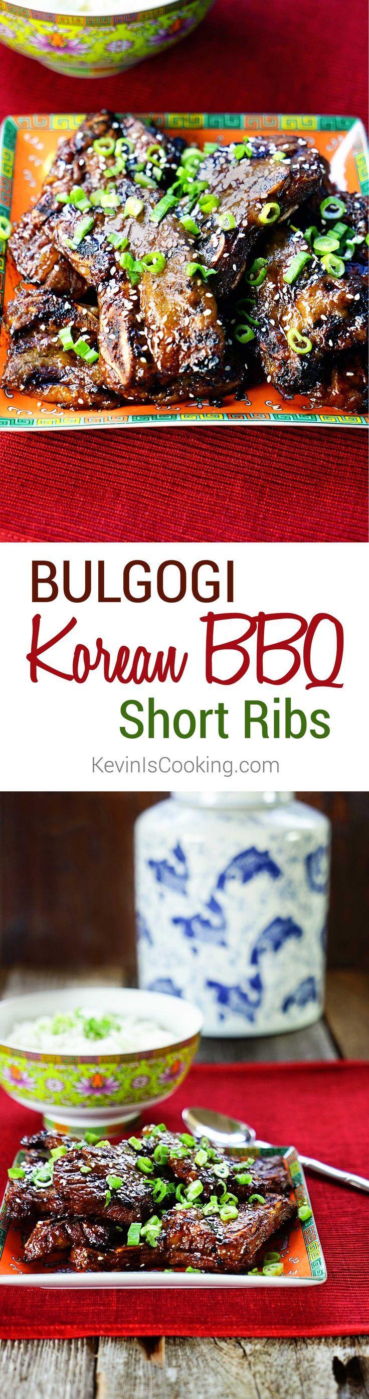 Bulgogi Korean BBQ Short Ribs. www.keviniscookin...