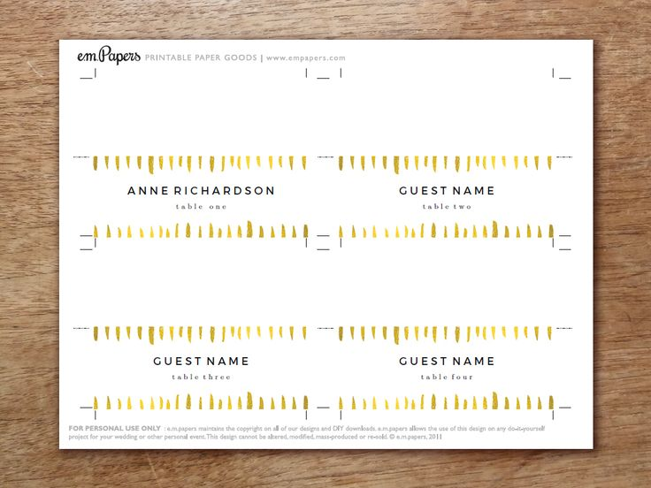 25+ unique Printable place cards ideas on Pinterest DIY place - guest card template