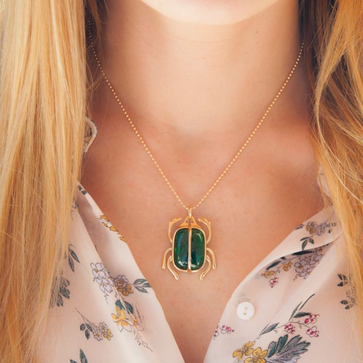 The Scarab necklace - a trendy and colorful necklace, inspired by the Egyptian Antiquity. #lilou #scarab #necklace #international #womensday
