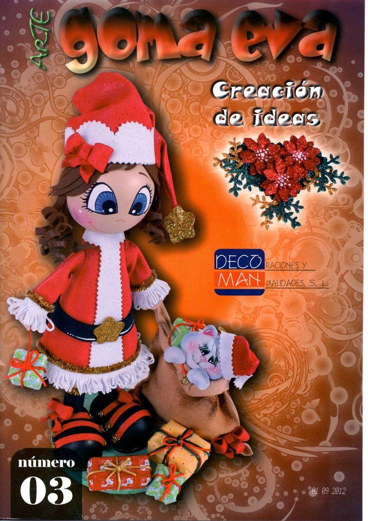 Revistas de Foamy gratis: como hacer fofuchos navideños revista gratis