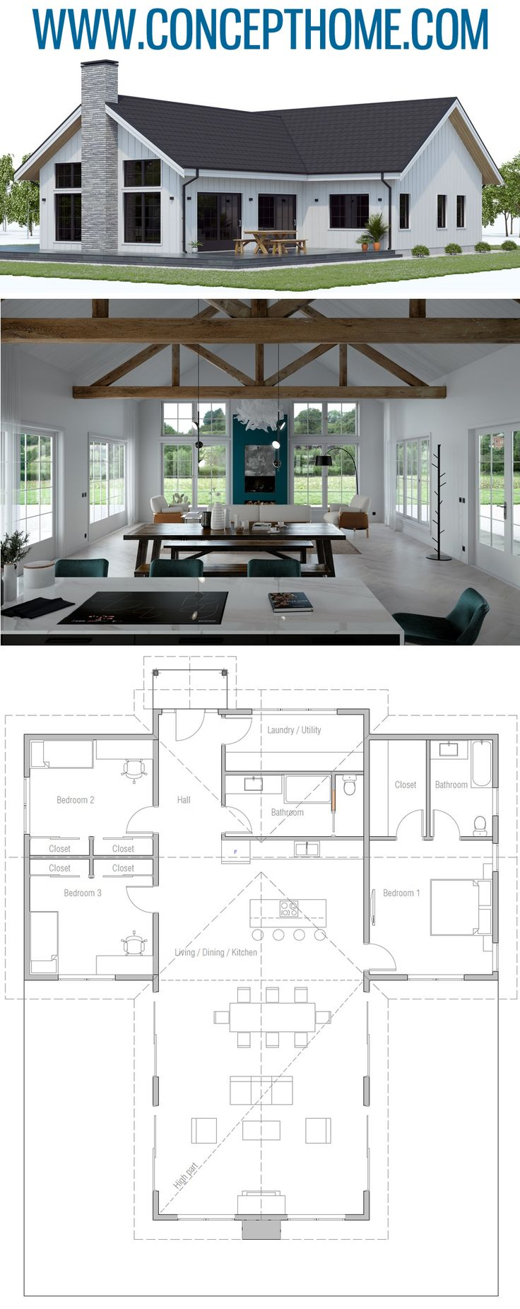 Small House Plan CH594