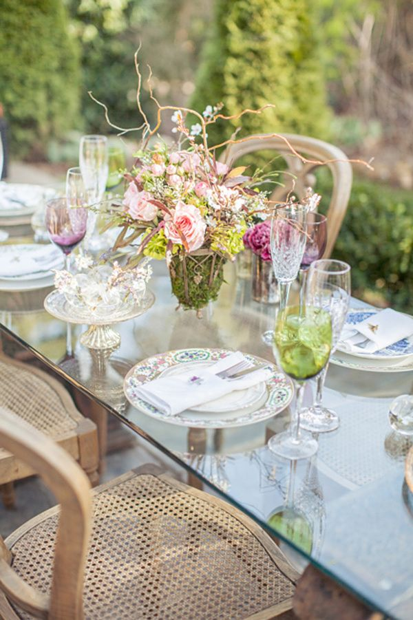 vintage-inspired garden table // photo by Blue Lace Photography