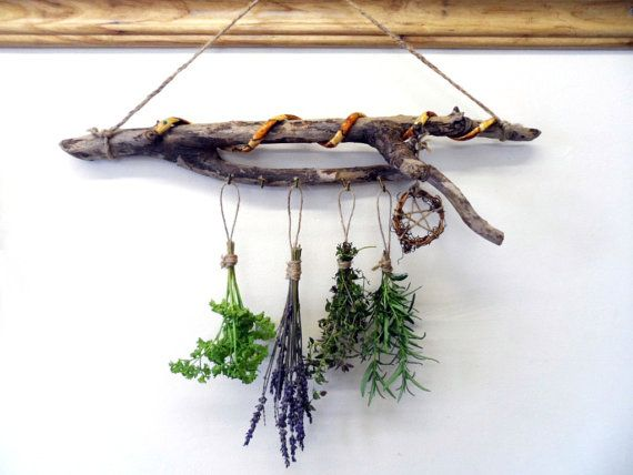 Pagan Handfasting Gift. Rustic Hand Crafted Snake and Pentacle Herb Hanger By Positively Pagan Crafts (sold)