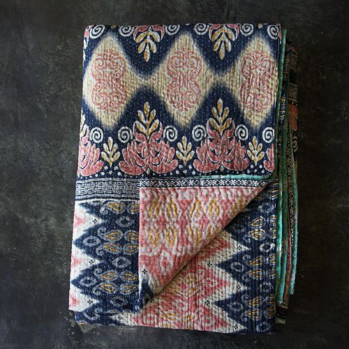 Kantha quilt - love this pattern. Would be a gorgeous handbag.