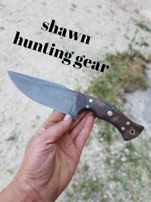 Alaskan bear -handmade 1095 steel with burl wood handle