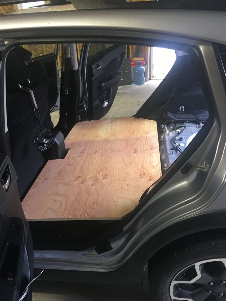 Subaru Crosstrek Wooden Platform Removed Backseats To