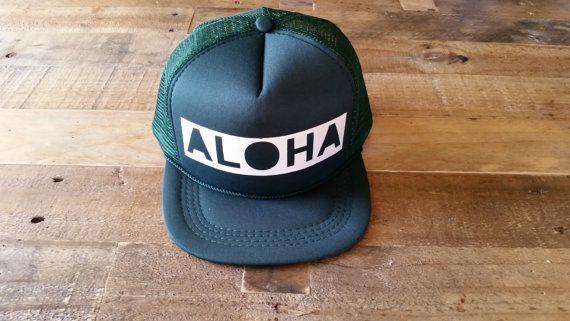 Aloha Baby Snapback Hat   Toddler Trucker Hat   Baby Trucker Hats   Monogram Trucker Hats   Custom Snapback Hats   Red Aloha Trucker Hat