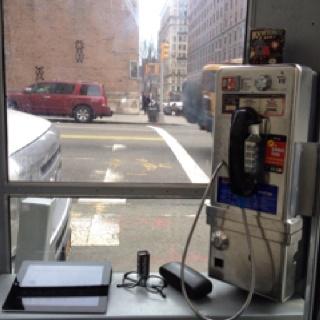 Clark&Kent headquarter in a phone booth in New York. Always open.