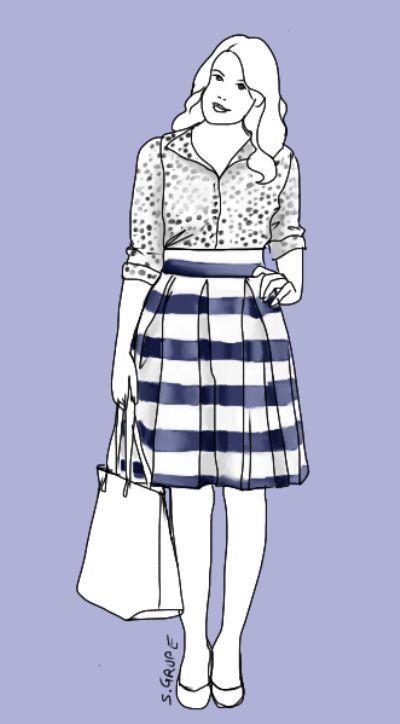Ein #Rock für jeden #Figurtyp: Ein breiter Bund akzentuiert die Taille, drei Kellerfalten am Bund sorgen an der Hüfte für viel Volumen - gut, um Kurven zu akzentuieren oder zu schaffen. #Modeflüsterin - Mode, Stil und Wellness für starke Frauen.