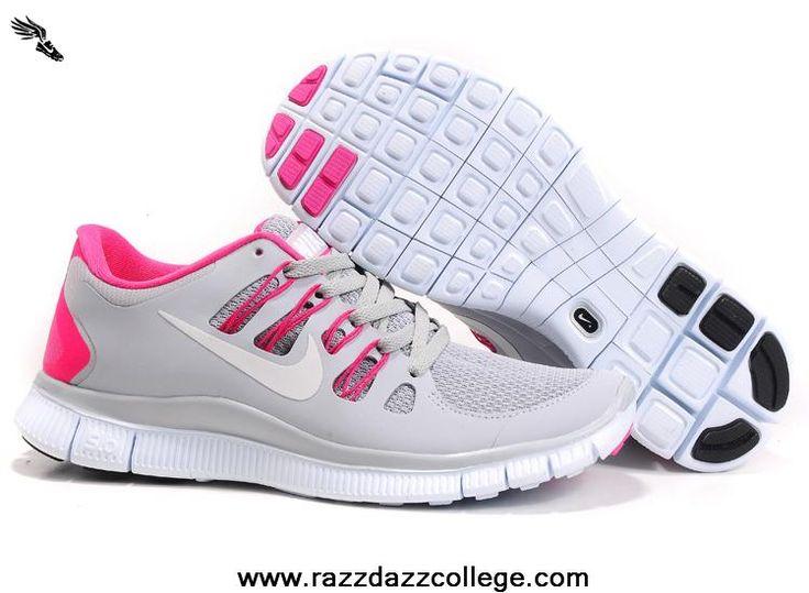 nike free run 5.0 gray and pink