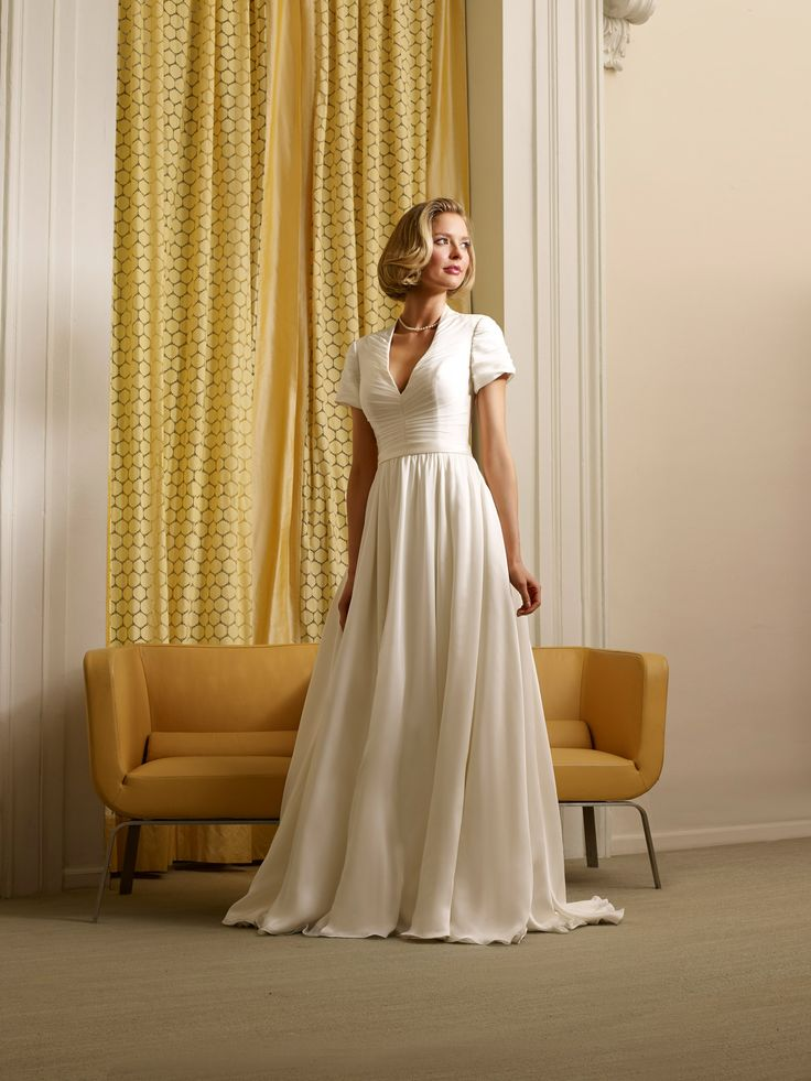 "The Steven Birnbaum Collection ""Barbara"" wedding gown, available at Something White, A Bridal Boutique"