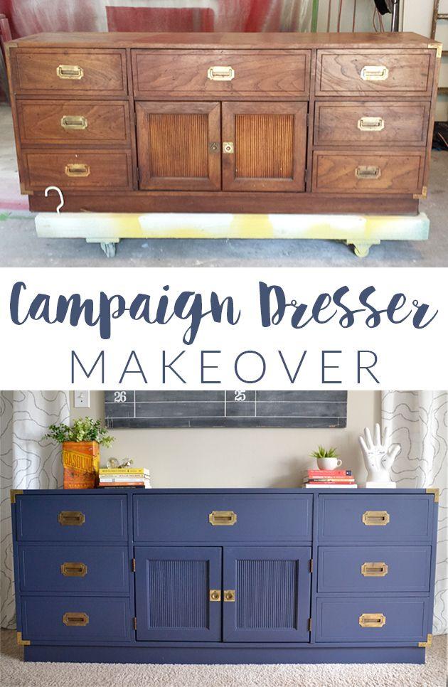 Campaign Dresser Makeover | A Furniture Nightmare | http://heartsandsharts.com/campaign-dresser-makeover-a-furniture-nightmare/