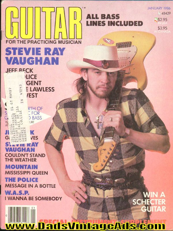 1986 January Guitar for the Practicing Musician Magazine Back-Issue