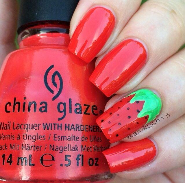 Aardbeien nagellak -02