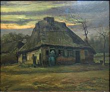 The Cottage, 1885, Van Gogh Museum, Amsterdam (F83). The cottage was home to two families, one of which was the de Groots who were the subjects of The Potato Eaters[2]