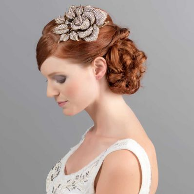 Rose of Gold Side Tiara | Wedding Side Tiaras | Glitzy Secrets