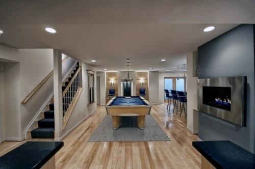 Pools Area, Bar Design, Staircas Design, Basements Design, Pools Tables, Basements Bar, Media Room, Basements Ideas, Basements Decor