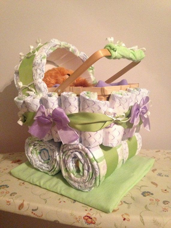 Diaper Carriage An Awesome Baby Shower Gift by JocelynsCreations, $55.00