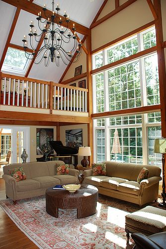 Yankee Barn Homes Model House In Grantham, NH by Yankee Barn Homes, via Flickr