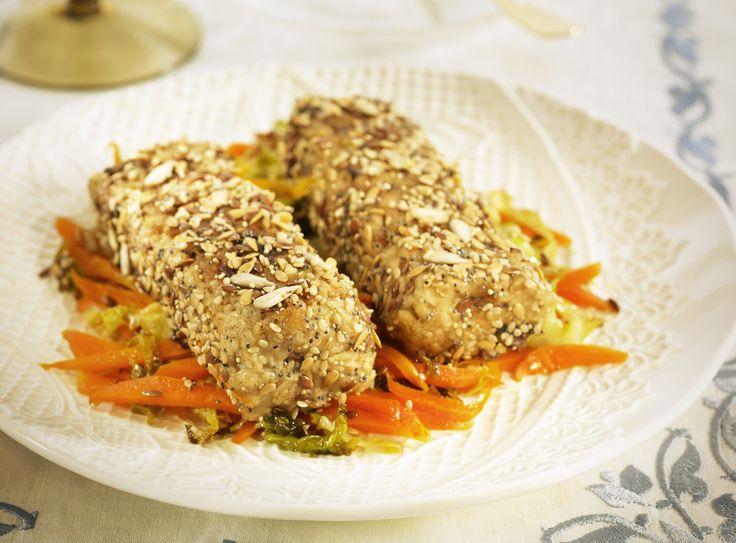 Diese Tofu-Dill-Haferröllchen sind als Hauptmahlzeit ideal mit Kartoffelbrei als Beilage oder schmecken als knuspriger Snack zwischendurch.