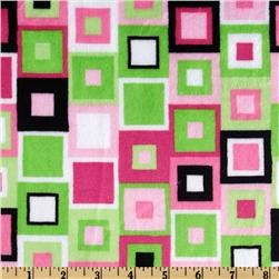 Kaufman Minky Cuddle Block Party Hot Pink/Lime for the back of the quilt?
