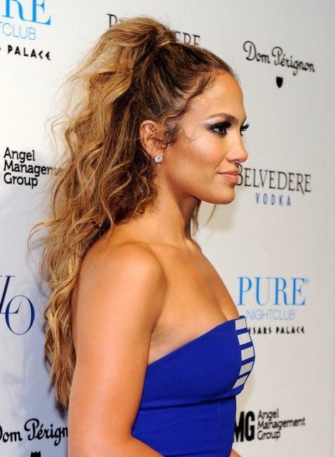 Images Of Jennifer Lopez Tousled Long Curly Hairstyle 2013