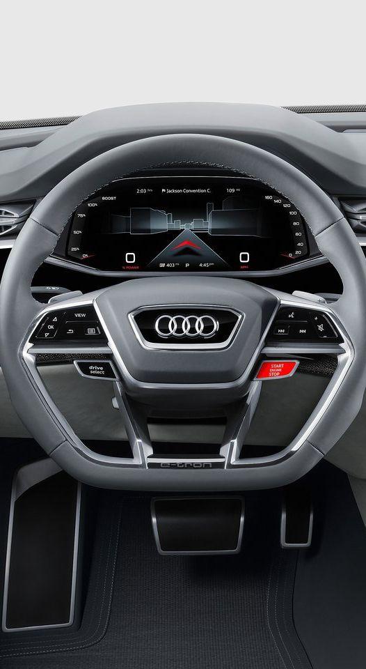 Audi Q8 Concept 2017 Cluster UI Design