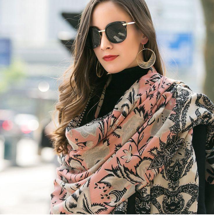 2017 Women Winter Cashmere Pashmina Shawls Fashion Boho Style Plaid Thick Warm Blanket Poncho Feminino Inverno Scarves Stoles – Alireviewhop.com