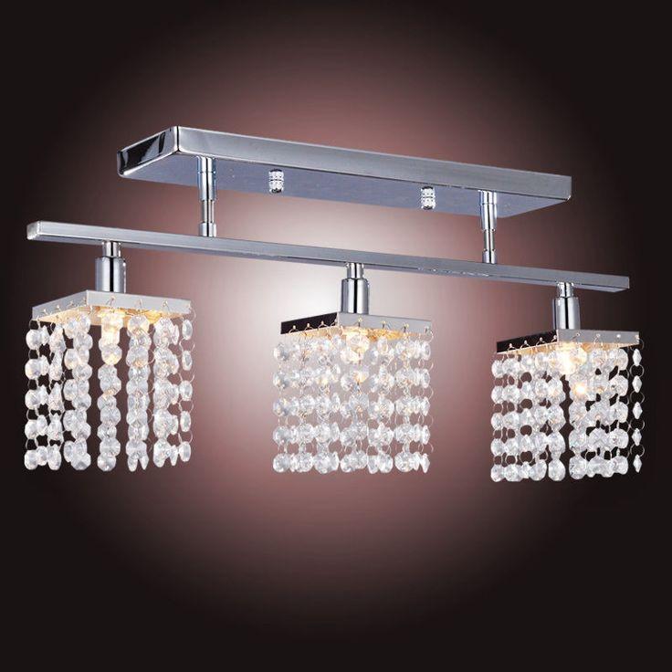 Modern Linear Design Crystal Chandelier Lighting Ceiling Pendant Light  220 240V