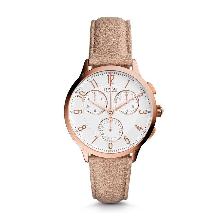 D01330, Fossil, Abilene Chronograph Light Brown Leather Watch CH3016, HKTVmall Online Shopping