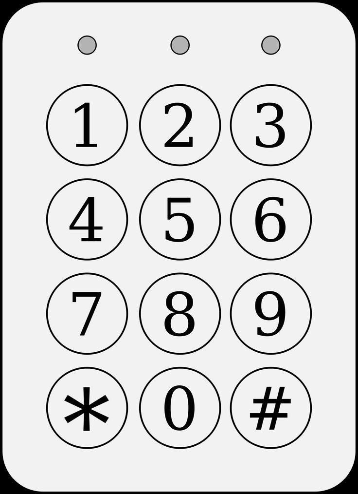 Code / alarm keypad by @bartovan, Simple code keypad in black and grey. Made with Inkscape., on @openclipart