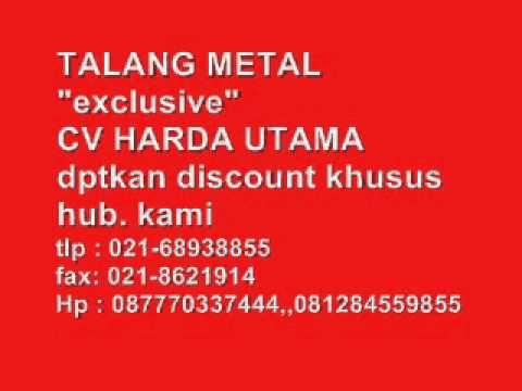 """TALANG METAL 081284559855,,087770337444,,02168938855. TALANG METAL """"exclusive"""" CV HARDA UTAMA Talang Metal (Water Gutter) Metal baja Untuk urusan Talang, Talang Metal yang satu ini puas pakai nya. Di banding kan dengan talang PVC, Talang Metal jauh lebih awet dan tahan lama. Aksesoris komplit dan pemasangannya mudah. CV.HARDA UTAMA """"melayani penjualan talang metal seluruh Indonesia"""""""
