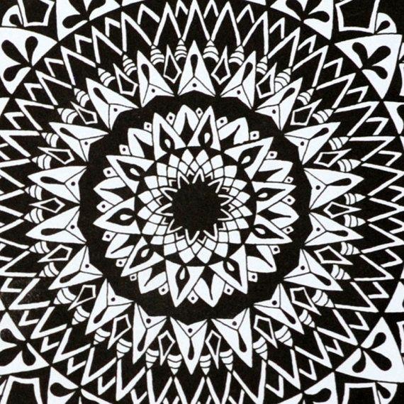 Gravity Mandala Print Zentangle mediation by SolCreationsArtwork