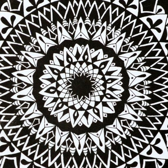 Gravity Mandala Print Zentangle mediation by SolCreationsArtwork