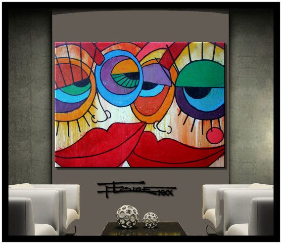 Abstract Painting Modern Canvas Wall Art Ready To Hang Abstract Canvas Painting Modern Abstract Painting Abstract Painting