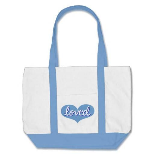 Jumbo Tote Bag Blue heart design Available in a range of styles, sizes and designs