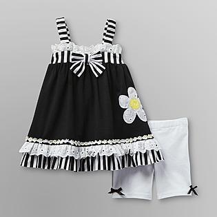 Small Wonders- -Infant Girl's Sundress & Shorts - Daisy