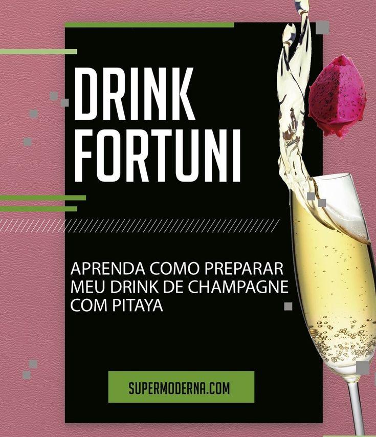 Receita rápida de drink com champagne e pitaya