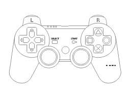 Playstation controller silhouette.