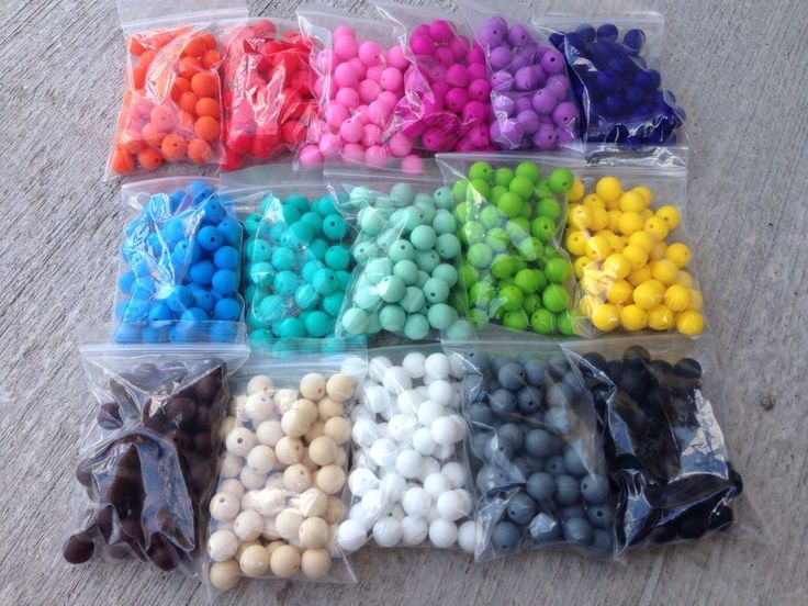 100 Silicone Teething Beads 12mm loose round lot Color Choice DIY Jewelry Bulk #Assorted