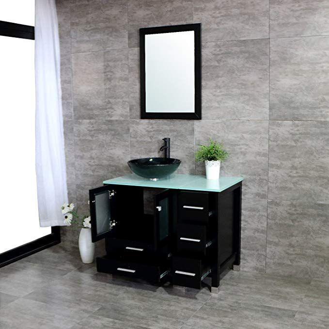 560 Walcut 36 Bathroom Vanity With Sink Mdf Wood Cabinet And