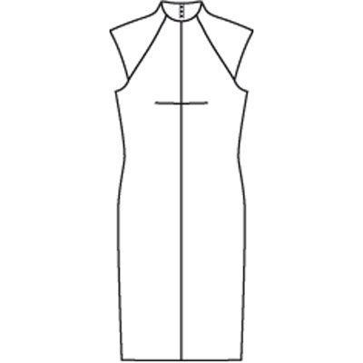 Платье - выкройка № 124 A из журнала 8/2009 Burda – выкройки платьев на Burdastyle.ru