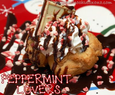 Hugs & CookiesXOXO: PEPPERMINT LOVER'S CREAM PUFFS!