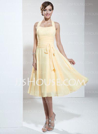 Homecoming Dresses - $93.99 - A-Line/Princess Halter Knee-Length Chiffon Homecoming Dress With Ruffle (022003360) http://jjshouse.com/A-Line-Princess-Halter-Knee-Length-Chiffon-Homecoming-Dress-With-Ruffle-022003360-g3360