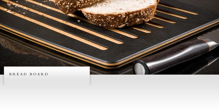 No more crumbs on the floor! The Epicurean Bread Board's smart design catches and contains the crumbs, leaving the counter clean. Head to the flip side for a smooth, daily food-prep surface. Choose from slate or natural, both NSF- and FSC-certified