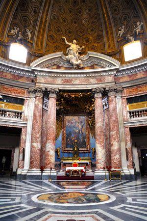 Le Bernin, Eglise de Saint-André-du-Quirinal, 1658-1678. Chapelle de l'autel.