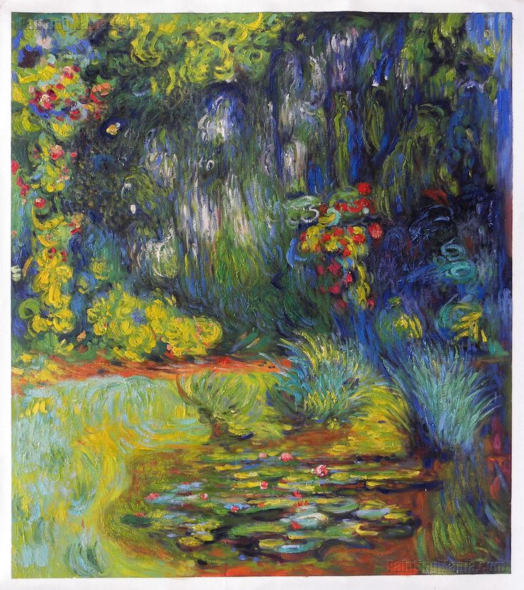 Corner of Water-Lily Pond by Claude Monet