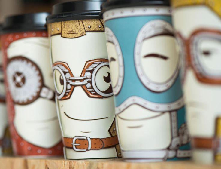 Take Away Coffee Cups By Backbone Branding For Gawatt Coffee Shop U2022 Design  Father