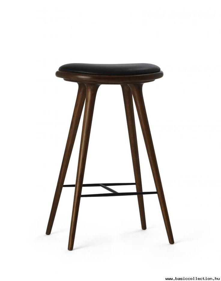 Basic Collection, High stool #design #furniture #stool #wood #leather