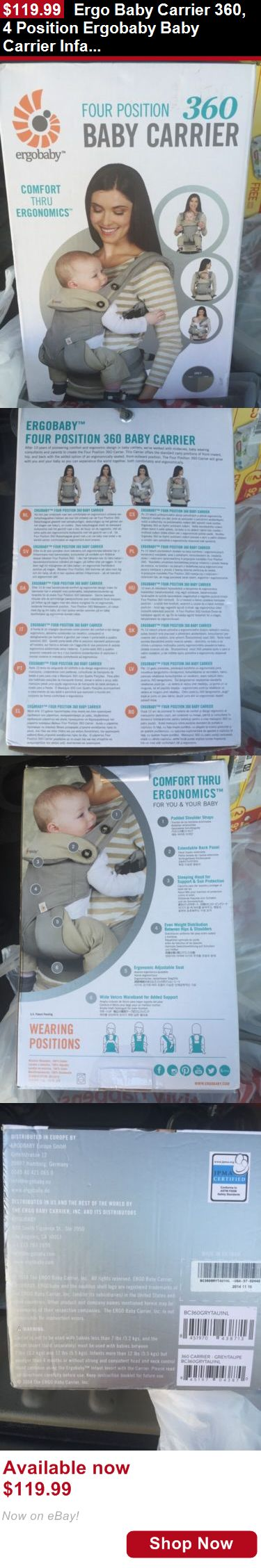 Baby Carriers and Slings and Backpacks: Ergo Baby Carrier 360, 4 Position Ergobaby Baby Carrier Infant, Gray ~ New BUY IT NOW ONLY: $119.99